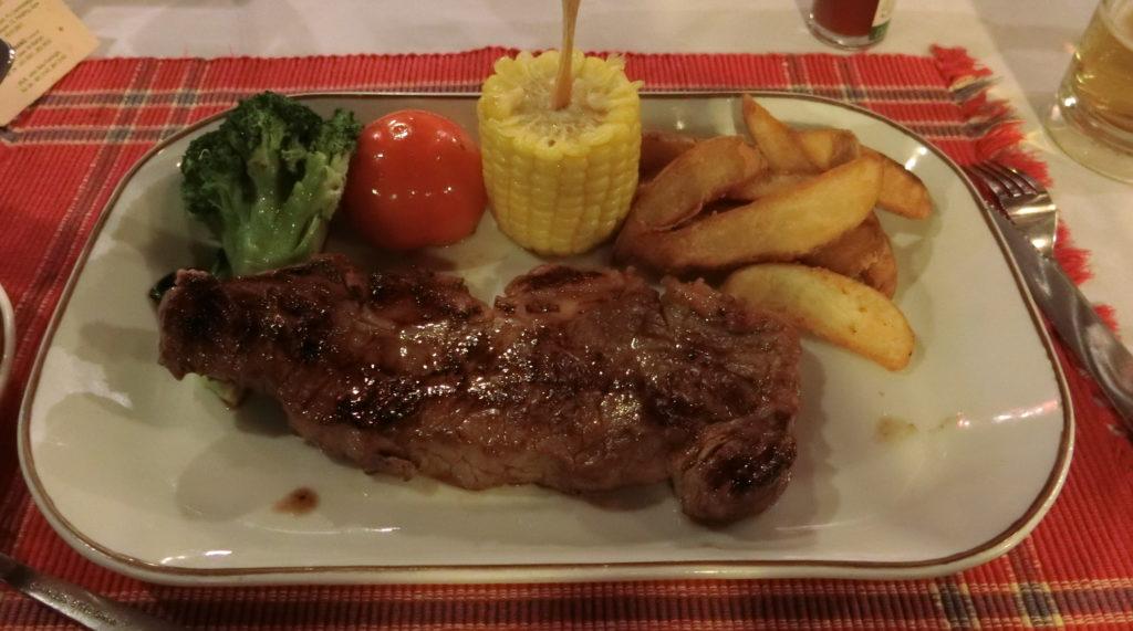 クアラルンプールで食べたステーキ