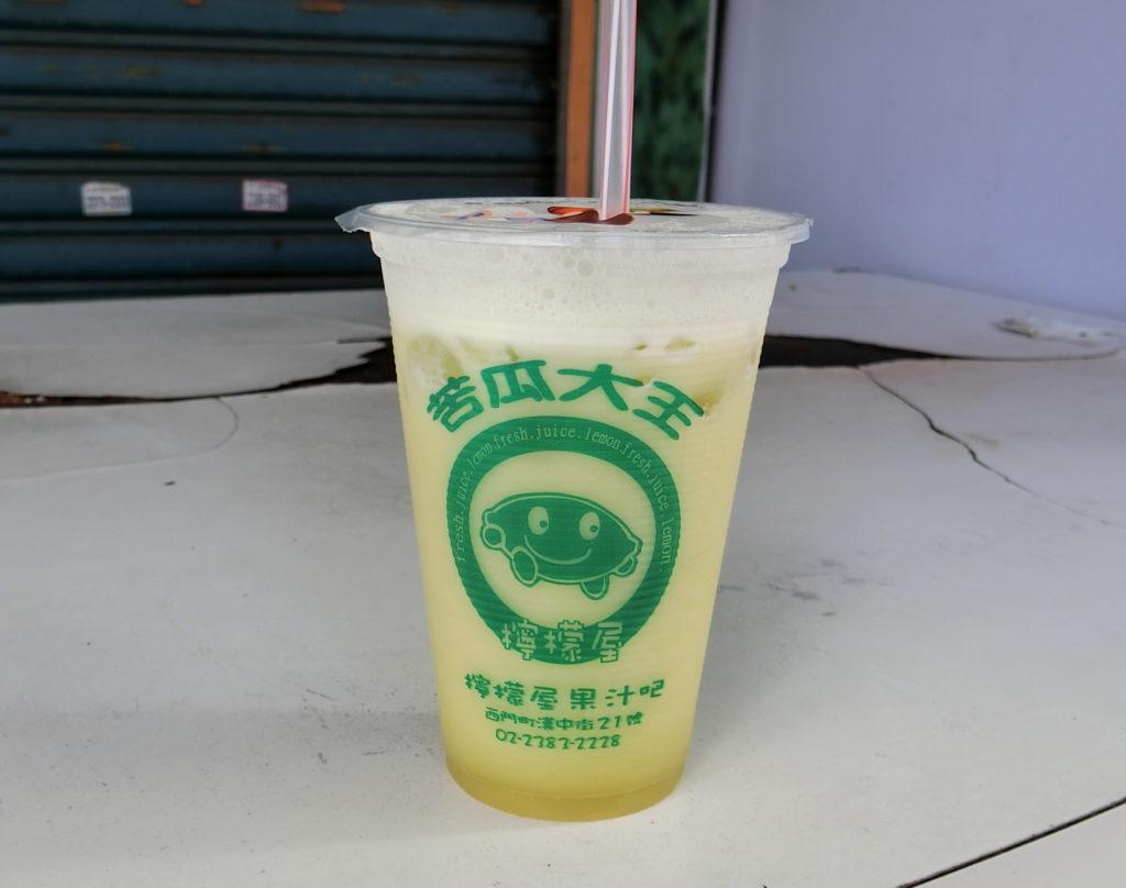 檸檬屋正宗苦瓜原汁のドリンク