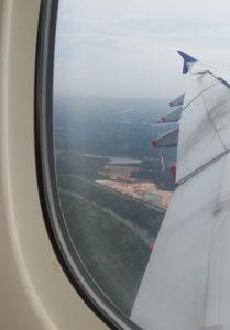 クアラルンプール国際空港、離陸前の風景