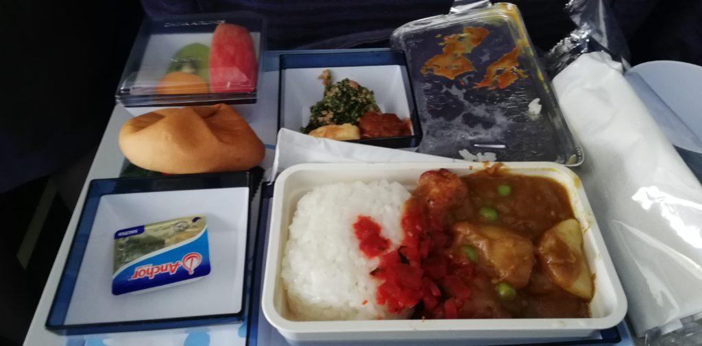 マレーシア航空の機内食