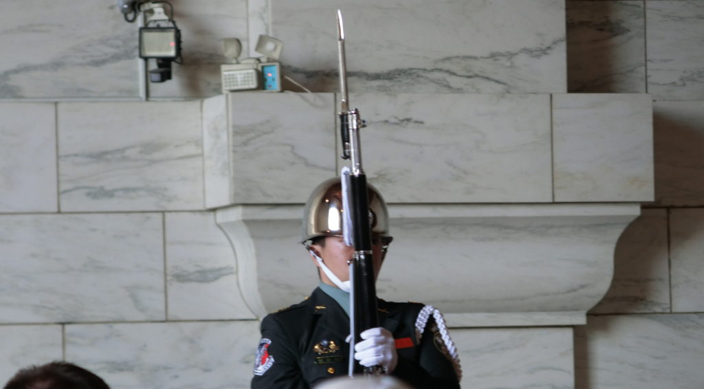 中正紀念堂の衛兵②
