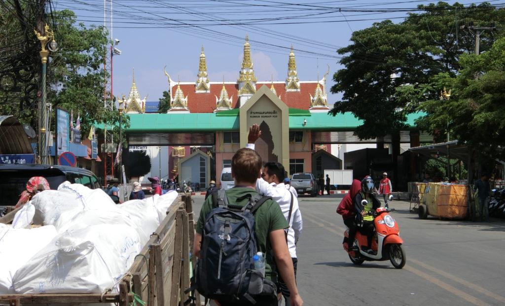 タイ・アランヤプラテート側の国境近く