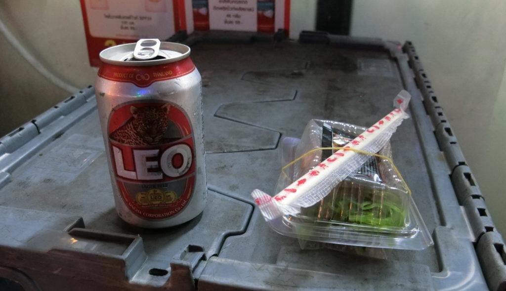LEOビールと寿司