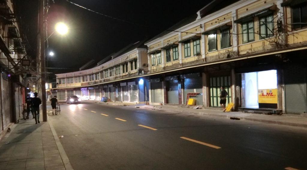 カオサン通りの近くの道