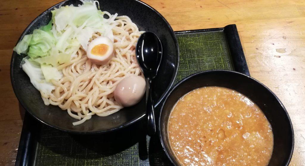 竹虎のおろし生姜の味噌豚つけ麺