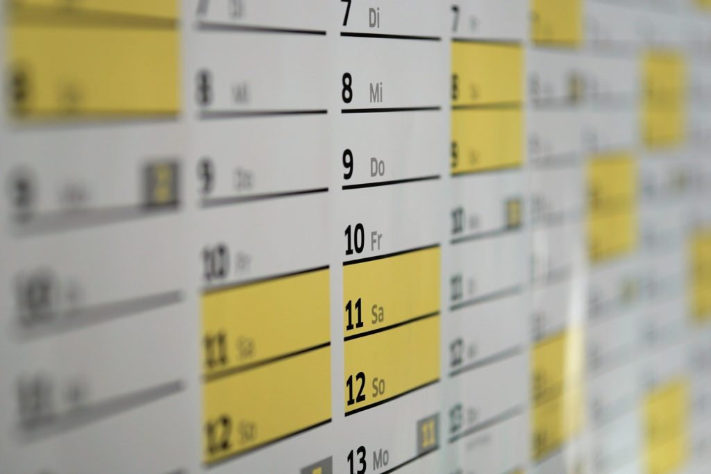 日程の写真