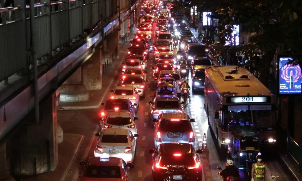 サイアムの交通渋滞