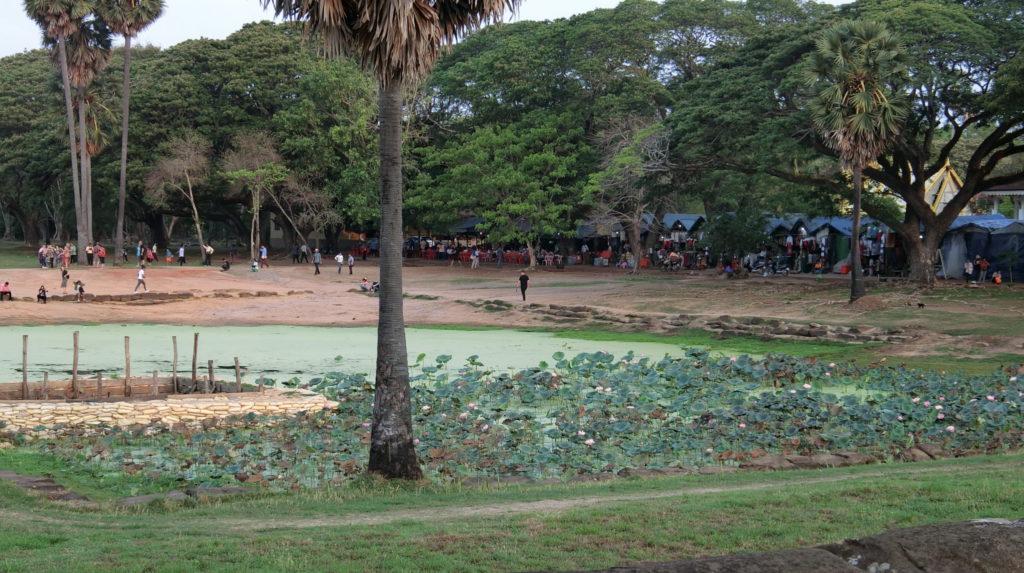 アンコールワットの環池(北側)