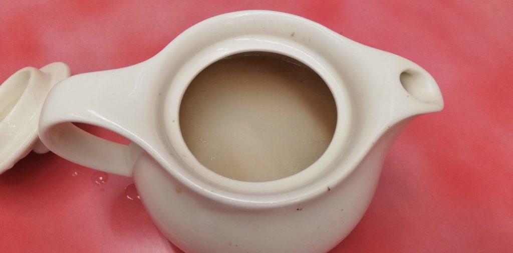 山岡家、海老薫る濃厚あさりつけ麺の割スープ