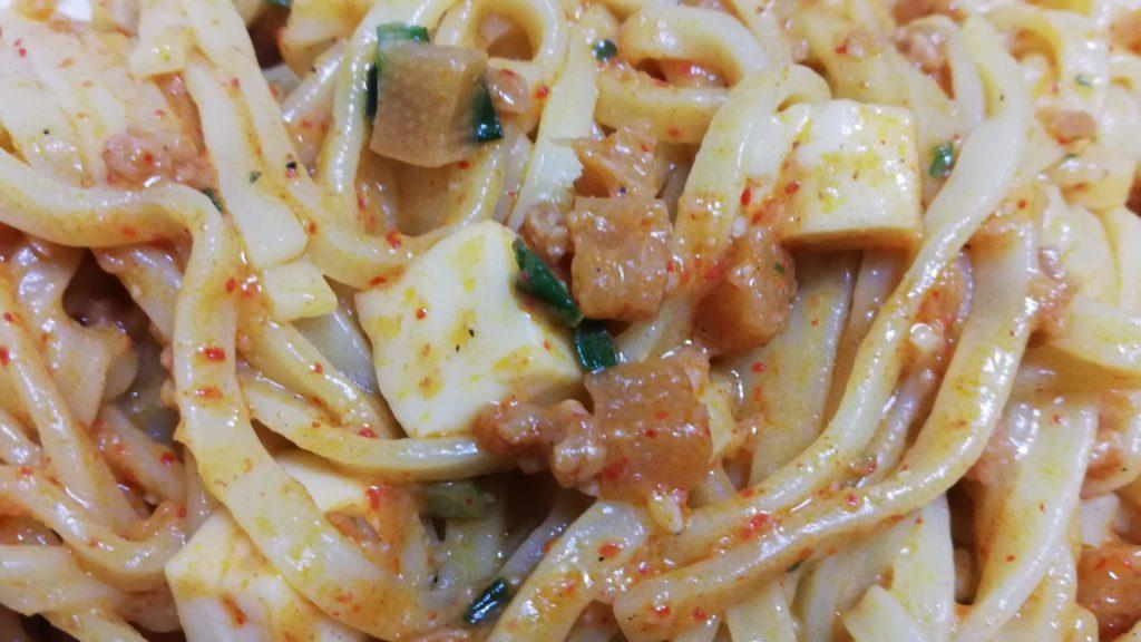 セブンイレブンの冷凍食品「蒙古タンメン中本 辛旨汁なし麻辛麺」の具材